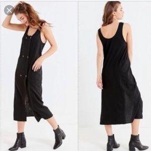 Urban Outfitters buttondown linen blend dress NWT